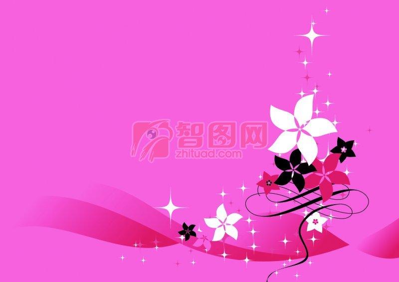 【psd】粉红色背景花纹设计