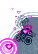 白色背景花紋設計