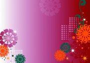 粉紅色背景花紋設計