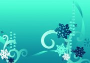 藍色背景花紋設計