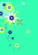 淺綠色花紋設計