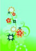 淺綠色背景花紋設計