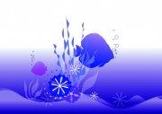 魚兒花紋設計元素