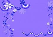 紫色花紋設計
