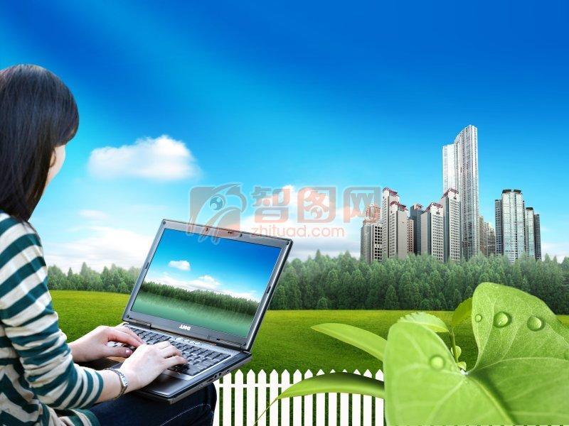高清绿叶 绿叶子 水滴 圆形水滴 水滴素材 动感水滴元素 高楼 城市