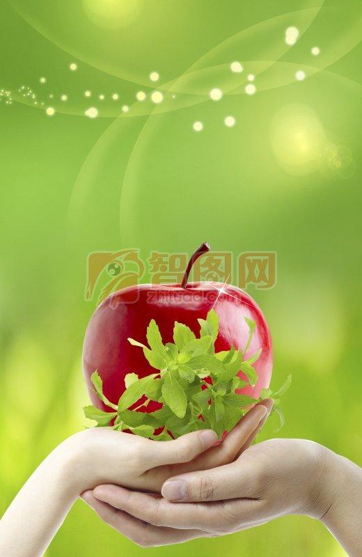 手托的苹果