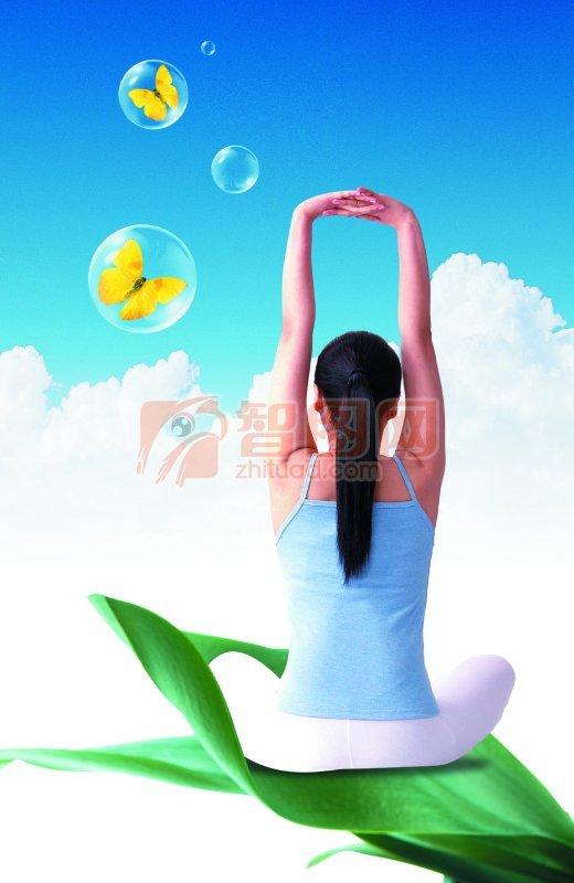 練習瑜伽的女子