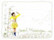 黄衣美女设计