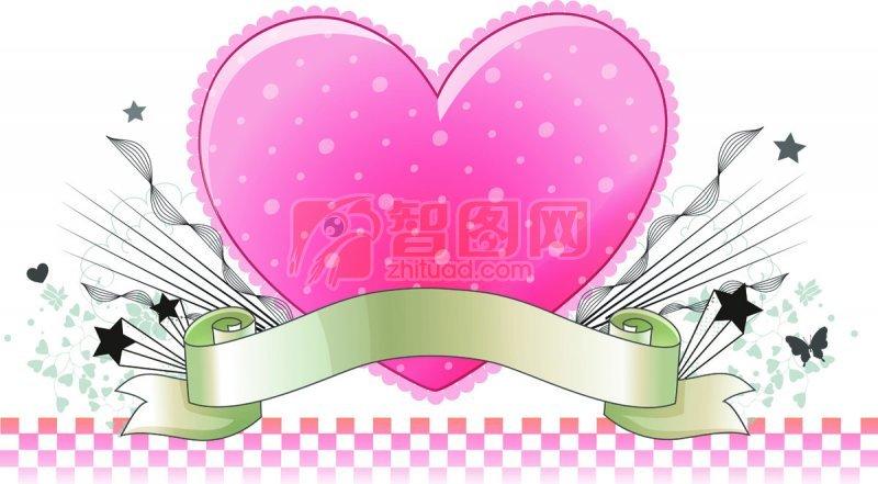 粉红色的心