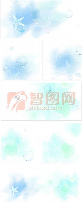蓝色花纹设计