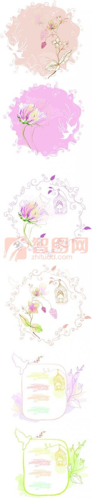 淺色花紋設計