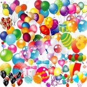 气球 热气球 PSD分层素材 高清礼品盒