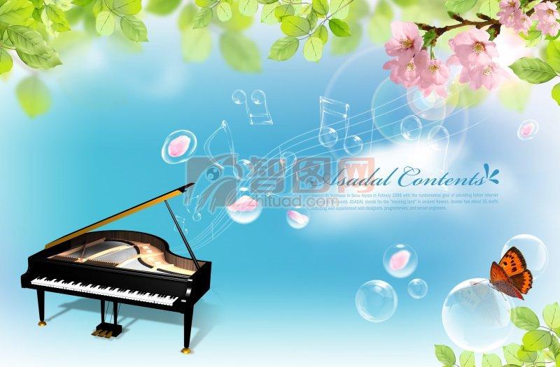 音乐钢琴海报设计