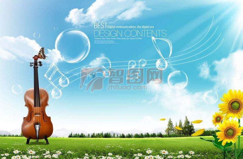 线条音乐元素海报