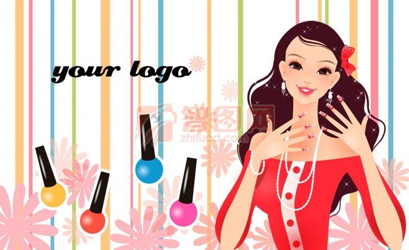 时尚美容美发名片设计