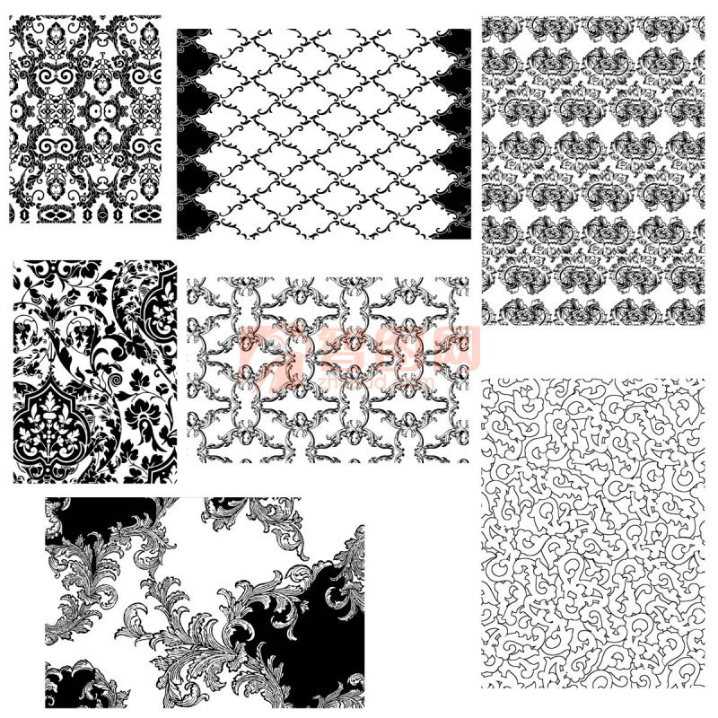 布紋 紋樣背景 花紋花邊分層素材