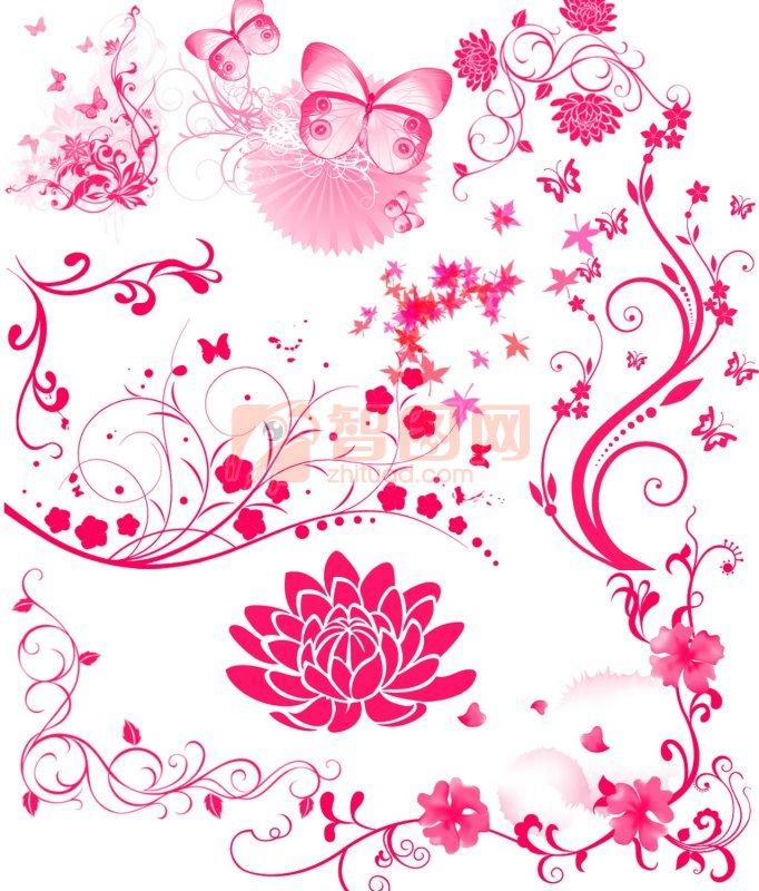 矢量花纹 欧式花纹背景