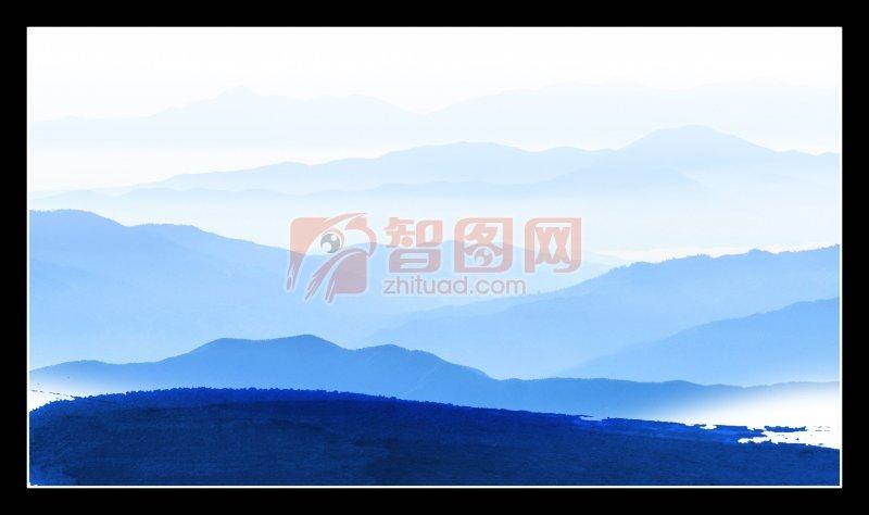 山脉背景海报设计