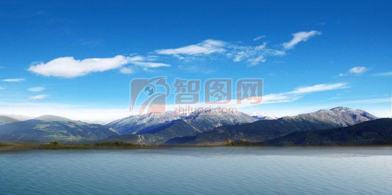山水风景海报背景