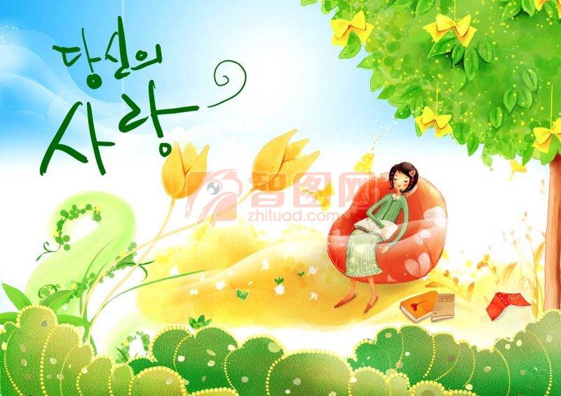 韩国风景海报设计