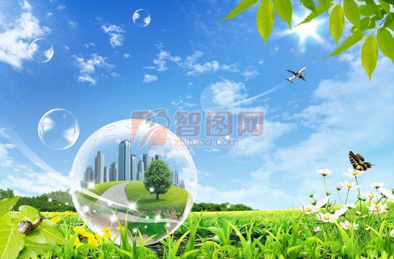 春天风景海报 平面设计素材