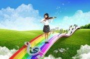 音乐风景海报