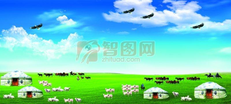 蒙古大草原