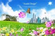 风景建筑海报
