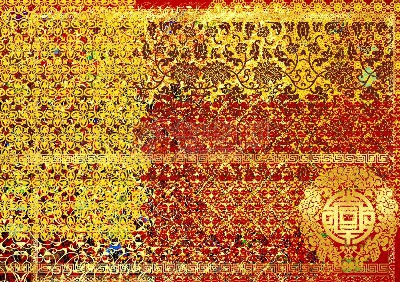 底纹 边框 花边 中国古典图案