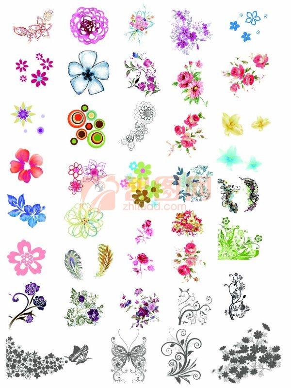韩国花纹图库