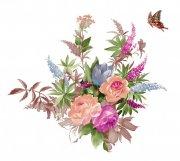 蝴蝶元素花紋