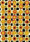 黃色花朵底紋