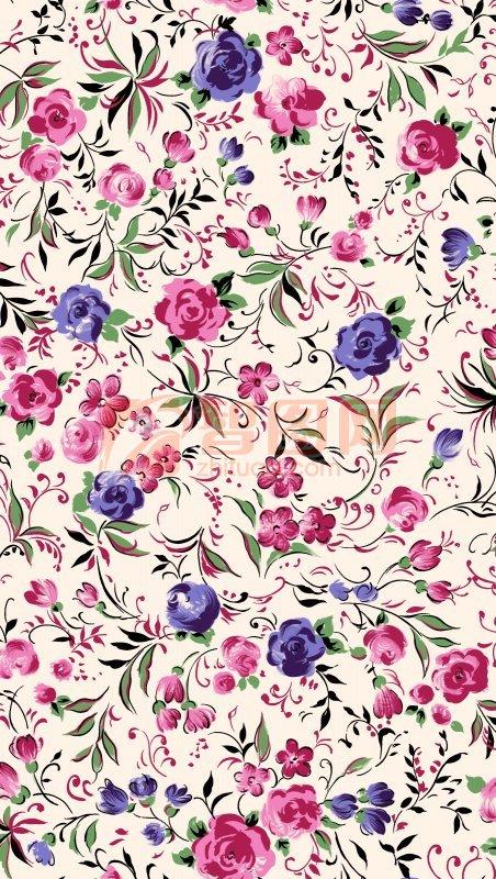 彩色花朵底紋