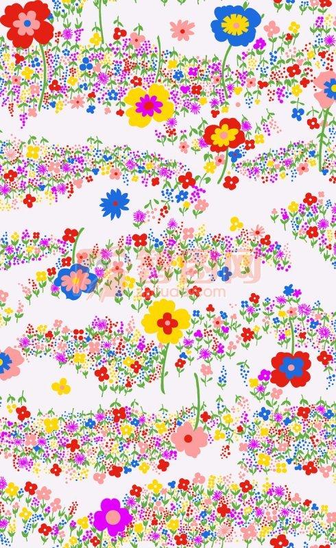 彩色花朵底纹