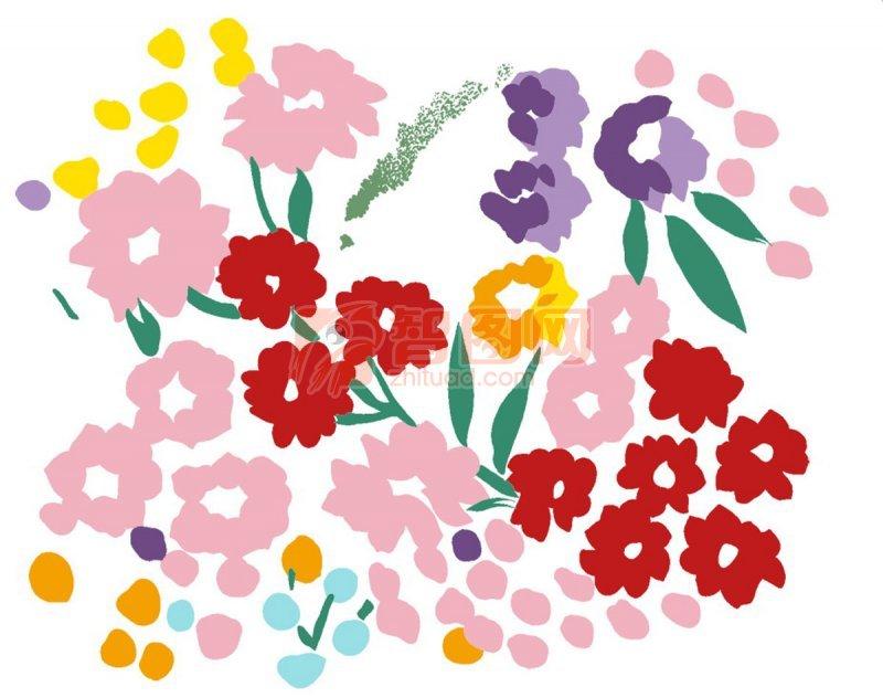 手繪花朵元素