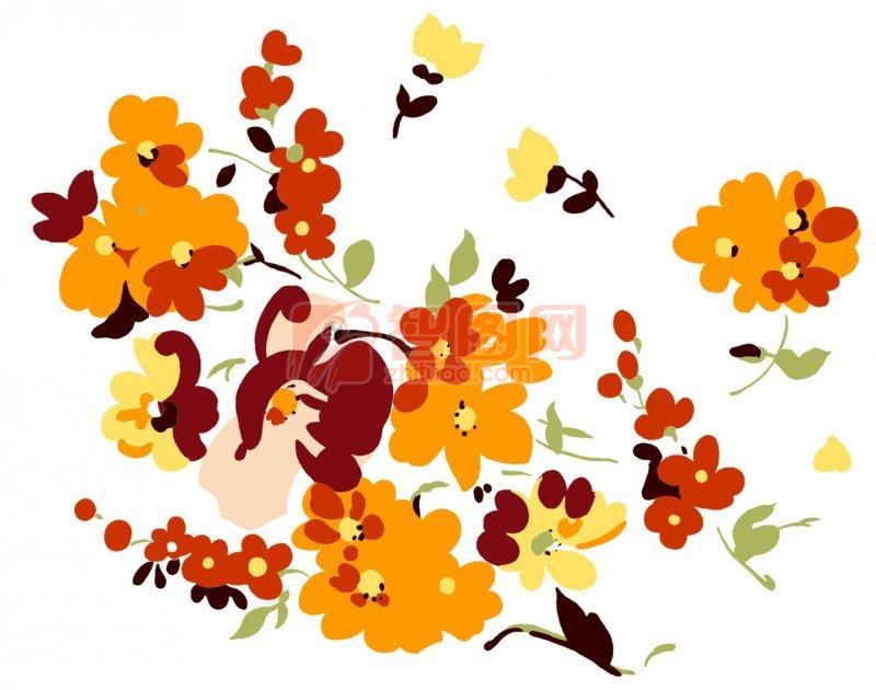 半空中的黄色小花