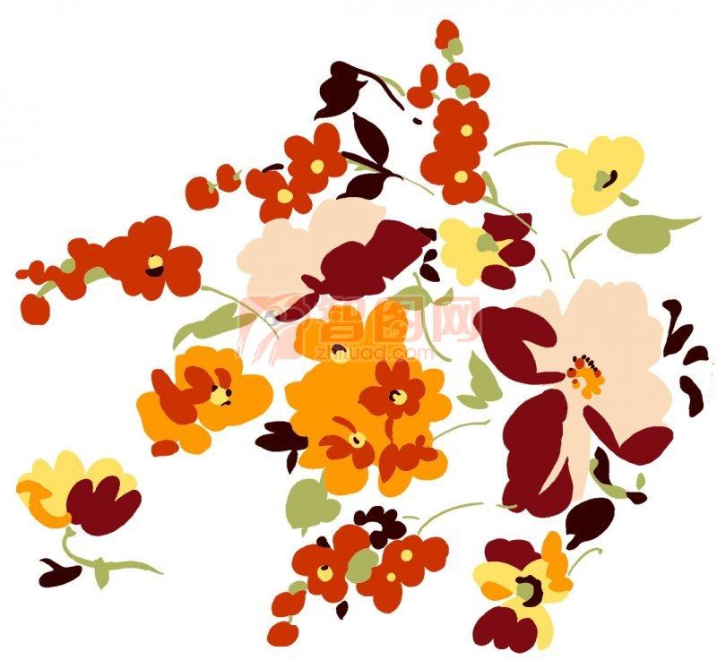 红色和黄色花朵