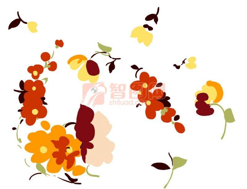 【psd】花朵花纹素材