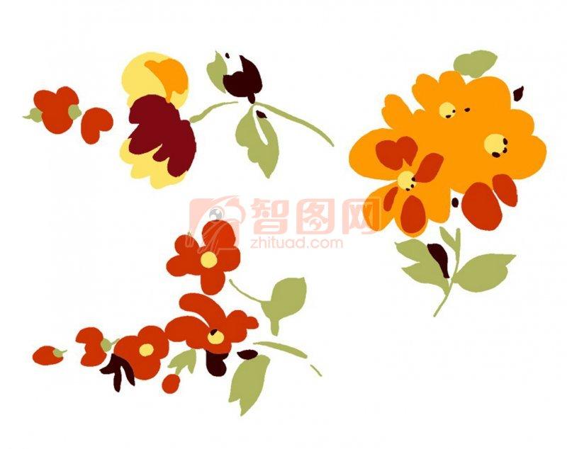 红色小花朵