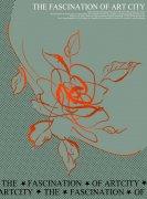 紅色花朵元素