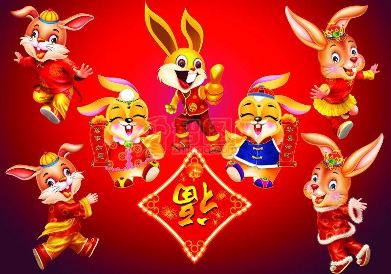 各式各样的可爱兔子