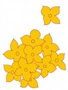 黄色花朵花纹设计