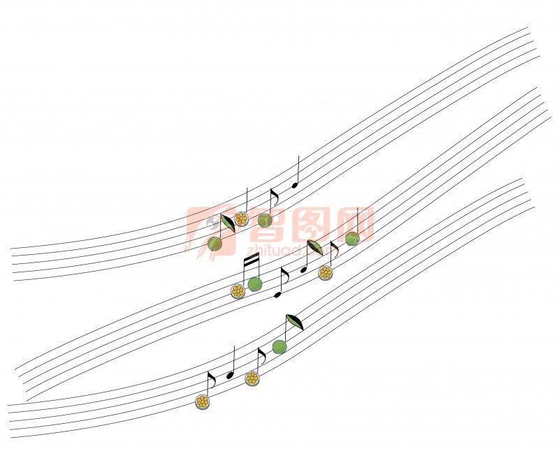 五线谱花纹设计
