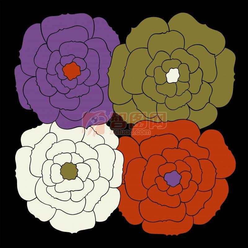 多色花纹设计