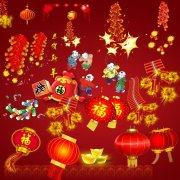 春节大红灯笼