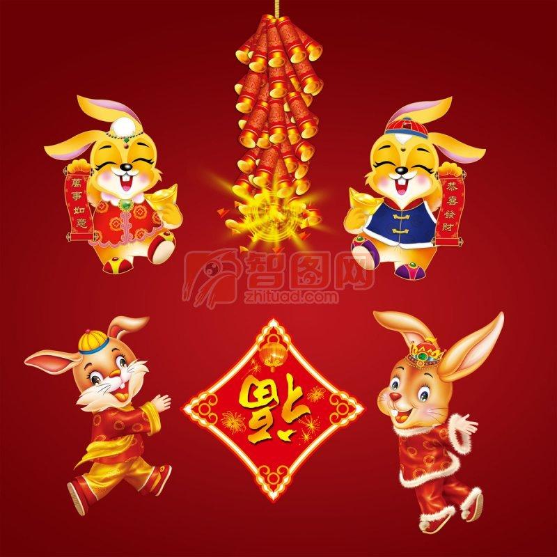春节兔子灯笼