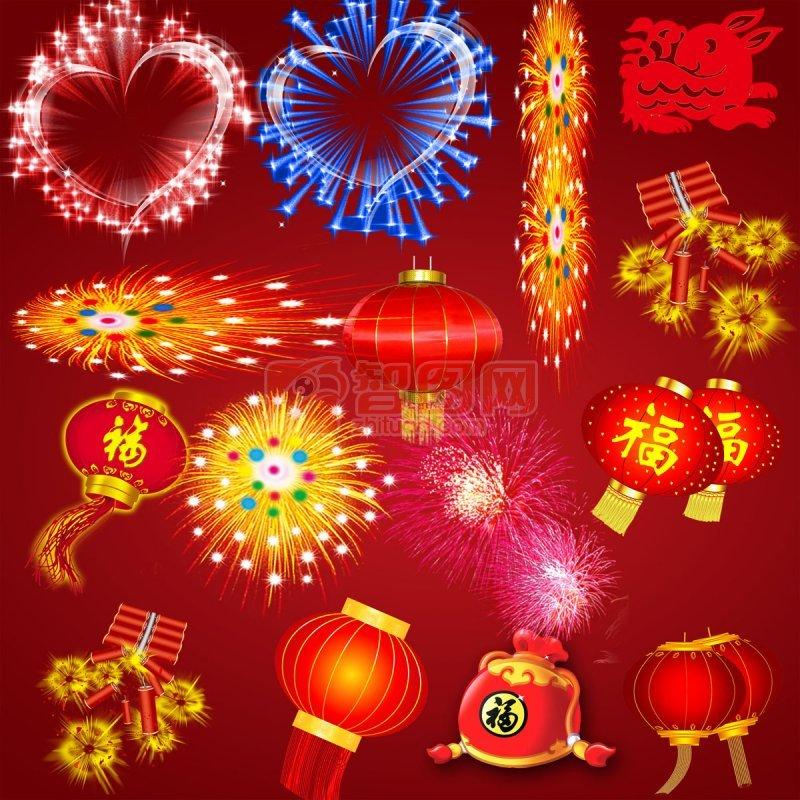 大红灯笼 鞭炮 灯笼全集 灯笼 春节物品 新年快乐 庆典素材 礼花 烟花