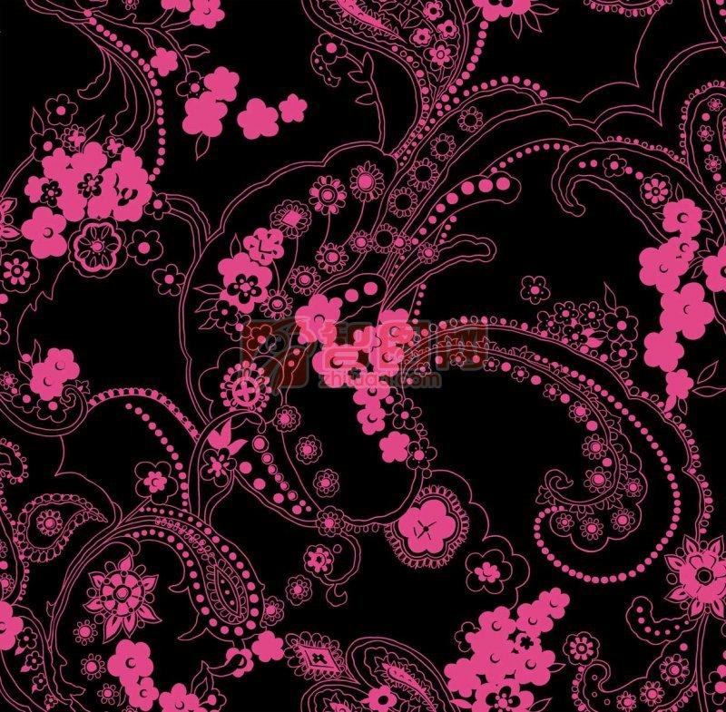 桃红色花纹底纹