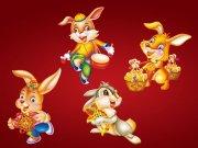 春节送福兔子
