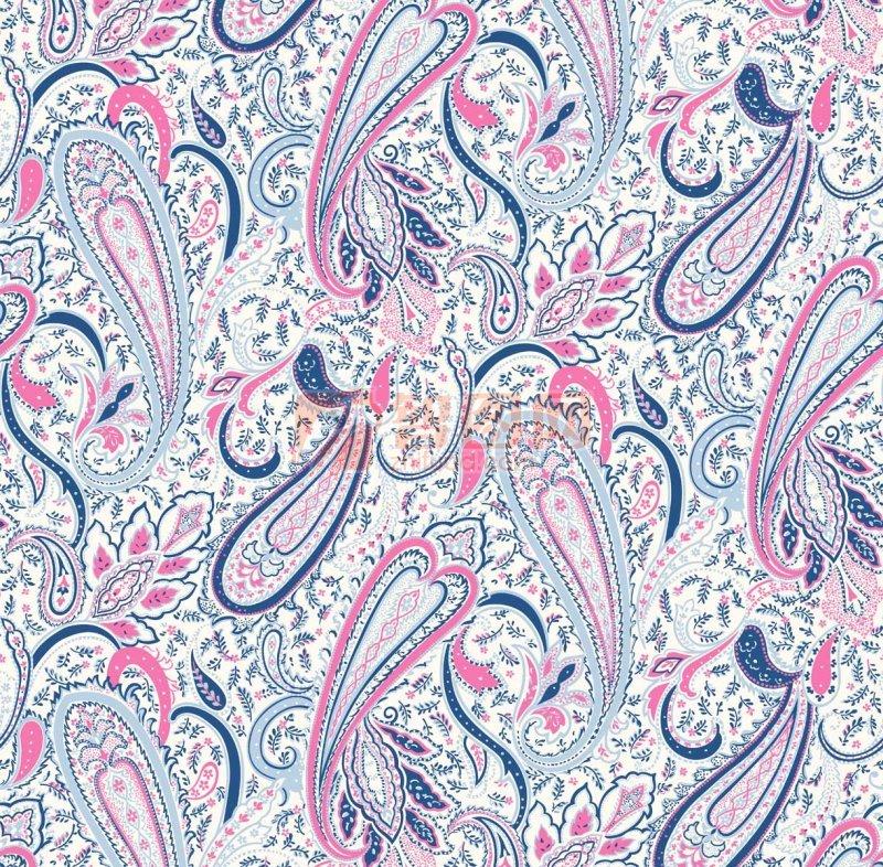 五色花纹底纹设计